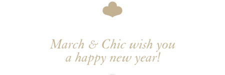 March & Chic wish you a happy new year !